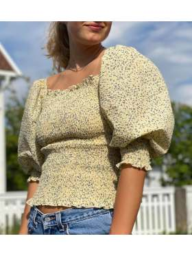 Neo Noir Liba Flower Bluse Dusty Yellow